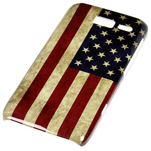 Handy Lux® Schutz Hülle für Motorola Razr i XT 890 Hard Case Etui Cover Involto Motiv Design Hülle America USA Flagge Retro Style