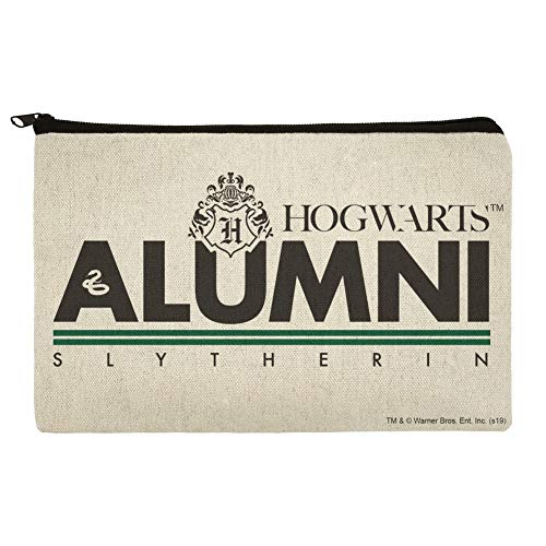 Harry Potter Slytherin Alumni Pencil Pen Organizer Zipper Pouch Case