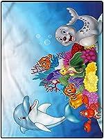 カーペット 新生活 フワフワ 廊下敷き 180*280 女の子の部屋と保育園のための水族館モダンエリアラグ-家の装飾海洋動物サンゴ礁 冬絨毯 防臭 ダイニング