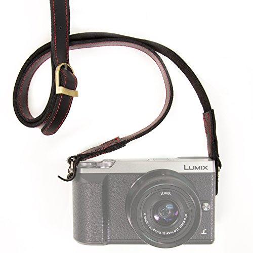 MegaGear MG945 - Pulsera de Piel para Todas Las cámaras fotográficas, Color Negro