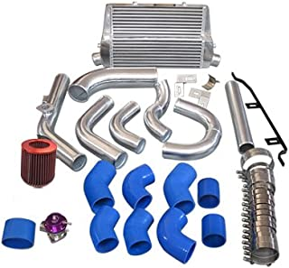 Cxracing Intercooler + Piping Kit BOV Turbo Air Filter For 98-05 Lexus IS300 2JZ-GE NA-T Blue Hoses