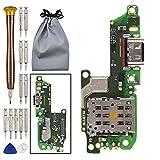 Double Sure Câble USB Type-C 2.0 Chargeur Jack Flex Cable avec Microphone et Lecteur de Carte SIM...