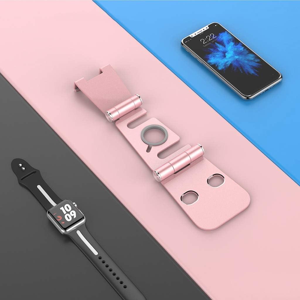 IPad Tablet Holder Color : Rose Gold DESKTOP WGZ Phone Holder Lifting Adjustable Bracket Portable