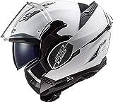 LS2 FF900 Valiant-II - Casco de moto modular para adultos, color blanco, S (55-56cm)
