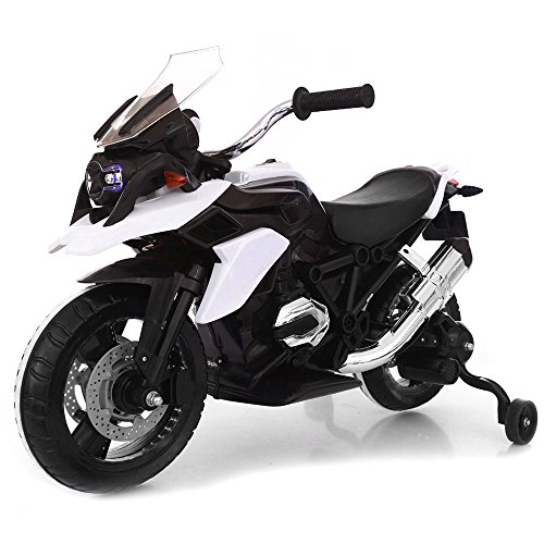 Moto Motocicletta Elettrica Moto Flower Bianca 12V per Bambini