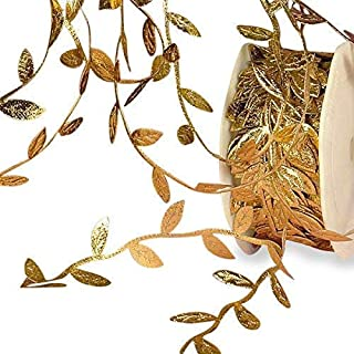 Gold Leaf Ribbon, 1-1/4
