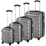 tectake Set de 4 valises de Voyage de ABS avec Serrure à Combinaison intégrée |...