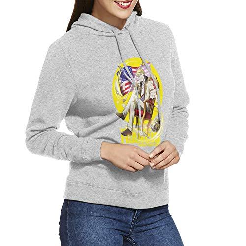 Vdaras Felpa con cappuccio da donna Francis Scott Key Fitzgerald Bungou Stray Dogs 3D Anime Stampa Felpe con cappuccio grigio XL