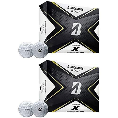 Bridgestone Golf Tour B X Golf Balls with REACTIV Cover Technology, White (2 Dozen)