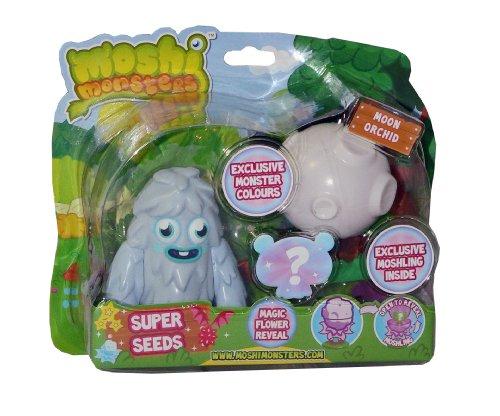 Moshi Monsters – Super Seeds – Furi + Moshling Surprise – Figurines 10cm + Aléatoire (Import UK)