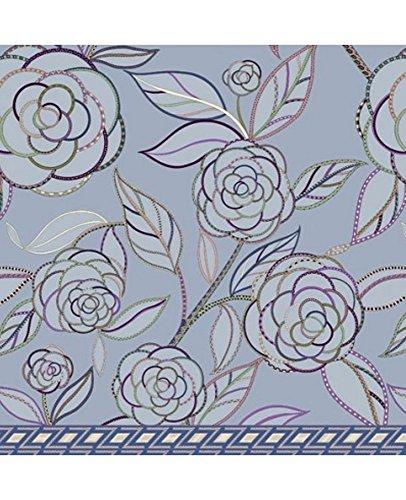 Zucchi Einrichtungsfoulards Tagesdecke Bettüberwurf »Camelia« der Marke geblümte Optik in Hellblau Göße V1: 180 x 270 cm in 100% Baumwolle