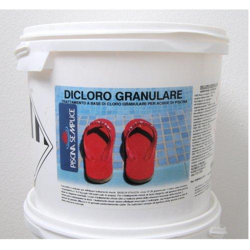 Lapi - 5 kg Secchio Dicloro Granulare 56% A Rapida Dissoluzione per Il Mantenimento dell'Acqua Piscina. Cloro granulare Marca chimici