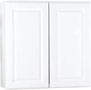 Hampton Bay 30x30x12 in. Wall Cabinet in Satin White