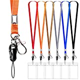 6 Pack Neck Lanyard with ID Badge Holder,...
