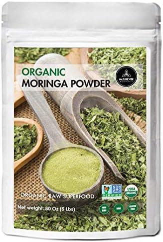 Organic Premium Moringa Powder by Naturevibe Botanicals 5lbs Non GMO and Gluten Free Multi Vitamin product image