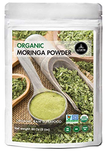Organic Premium Moringa Powder by Naturevibe Botanicals, 5lbs | Non GMO Verified and Gluten Free | Multi-Vitamin | Great in Drinks and Smoothies | Weight Loss | Immunity Booster