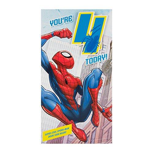 Hallmark Spiderman Geburtstagskarte zum 4. Geburtstag