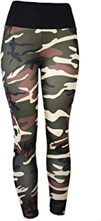 Yoga Fitness Leggings for Womens Printed Sports Pants Trousers