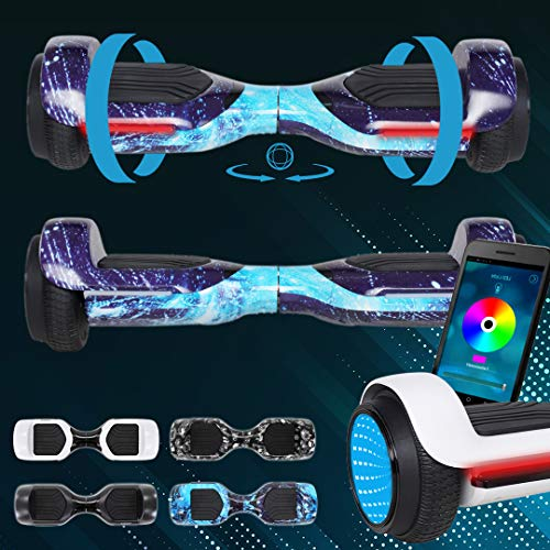 Robway RG1 Hoverboard - Das Original - Self Balance - 11 Farben - Bluetooth - 2 x 350 Watt Motoren - App (Space Blue)