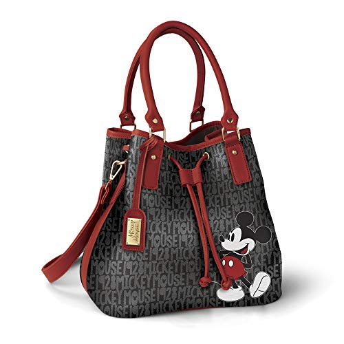 Disney 'Forever Mickey' Handbag – Officially Licensed Disney Ladies' Handbag, With A Custom-Print And A Luggage Tag With Mickey Mouse Signature Plaque. By The Bradford Exchange