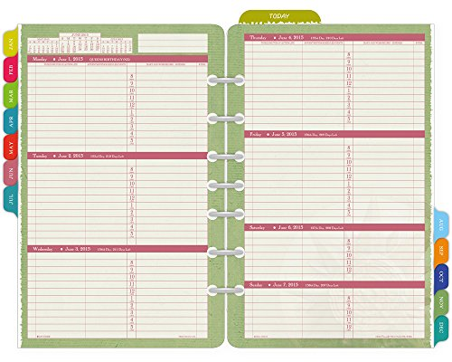 Day-Timer Flavia Weekly Desk-Size Refill 2015, 5.5 x 8.5 Inch Page Size (09633)