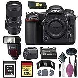 Nikon D500 DSLR Camera (Body Only) (International Model) - 128GB - Case - EN-EL15 Battery - Sony 64GB XQD G Series Memory Card - EF530 ST & 50-100mm f/1.8 DC HSM Art Lens