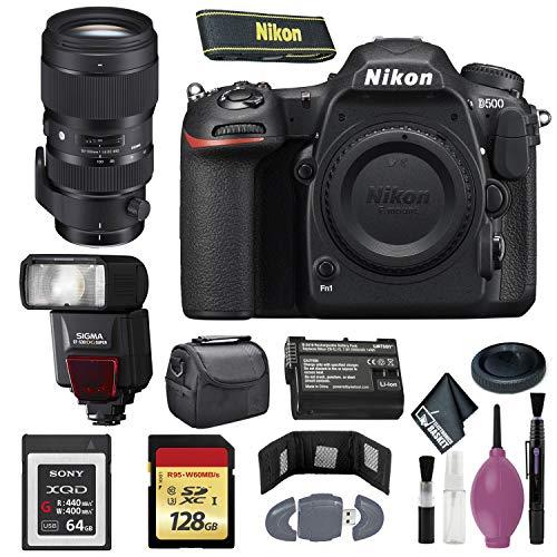 Nikon D500 DSLR Camera (Body Only) (International Model) - 128GB - Case -...