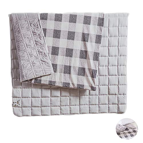 JFF Weighted Blanket And Duvet Covers Hot And Cold Duvet Cover Suit for One Person Use on Twin/Full Bed Deluxe Weighted Blanket