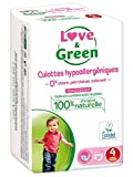 Love & Green Culottes Hypoallergéniques 20 Culottes Taille 4 (8-15 kg)