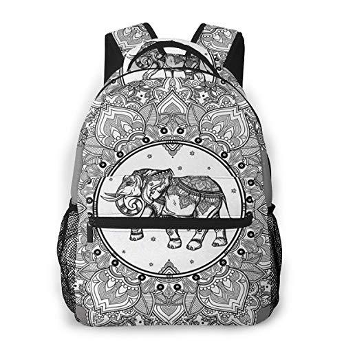 Laptop Rucksack Daypack Schulrucksack Backpack Mandala 709, Business Taschen Freizeit Rucksack Arbeits Schultasche für Herren Männer Schüler Schule