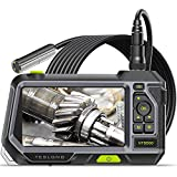 Autofocus Endoscope with 5' Monitor, Teslong NTS500 Auto Focus Industrial Borescope Inspection Camera-Always Best Depth of Field-with 9.8FT Gooseneck Probe, 5-Inch IPS LCD Screen, LED Lights & Case