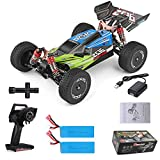 GoolRC Wltoys Remote Control Car XKS 144001 1/14 RC Car High Speed Racing Car 2200mAh Battery 60km/h 2.4GHz RC Buggy 4WD Off-Road Drift Car RTR 2 Batteries Green
