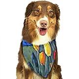 YAGEAD Pañuelo para Perros Cachorro y pañuelos para Mascotas, Holanda Países Bajos Pintura Tulipanes Holandés Naturaleza Floral Flor Horticultura a Mano alzada Bufanda para Mascotas