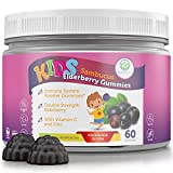 Elderberry Gummies for Kids & Toddlers (60 Day Supply) Sambucus Immune Booster with Zinc & Vitamin C - 75mg Allergy Cold Relief Support - Chewable Supplement Replace Capsules Pills Tablets and Syrup
