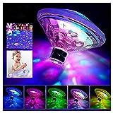 Caxmtu schwimmende LED-Badewannen-Beleuchtung, Unterwasserlampe für das Badezimmer, Disco-Effekt,...