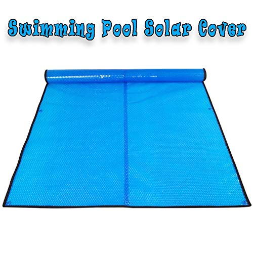 QIANDA Pool Cover Solar Blankets, Anti-evaporation Insulation Film Floating Rectangular Round Blue Bubble Sheet For Swimming Pool (Size : 450 x 250cm)