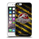 Head Case Designs Officially Licensed Jurassic Park Distressed Look Crosswalk Logo Soft Gel Case Compatible with Apple iPhone 6 / iPhone 6s