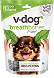 V-dog Vegan Breathbones Mini Dog Chew Treats 8 Ounce with Superfoods Minis Brown