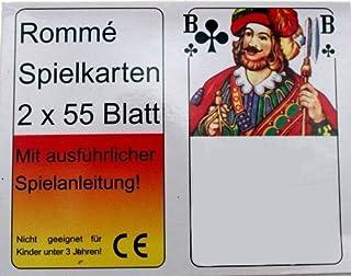 Gravidus 2 x 55 Romme Kartenspiel Skat Canasta