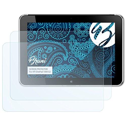 Bruni Schutzfolie kompatibel mit HP ElitePad 1000 G2 Folie, glasklare Bildschirmschutzfolie (2X)