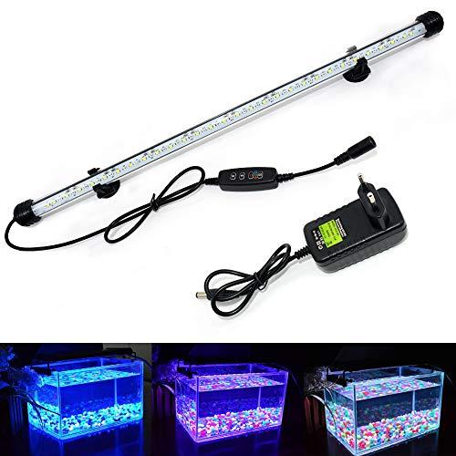 Lilideni AC110-220V 7 Watt UV Sterilisator Keimt/ötende Lampe UV Filter Lichtschlauch IP68 Wasserbest/ändigkeit f/ür Aquarium Fischglas