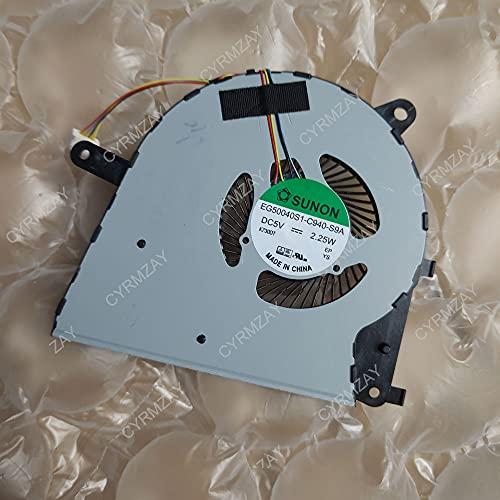 CYRMZAY Ordenador portátil Ventilador para ASUS ZENBOOK UX430 UX530 EG50040S1-C940-S9A DC5V 4Wire 4Pin CPU Ventilador