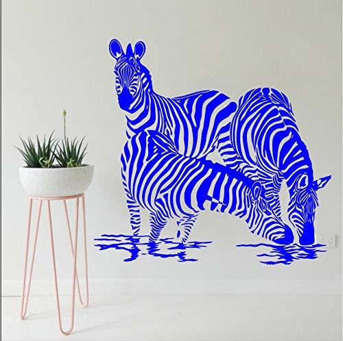 Pbbzl kinderkamer, slaapkamer, wanddecoratie, zebra, dranken, jongen, dieren, wandstickers, vinyl, Jungle Safari, wandserie, 56 x 61 cm