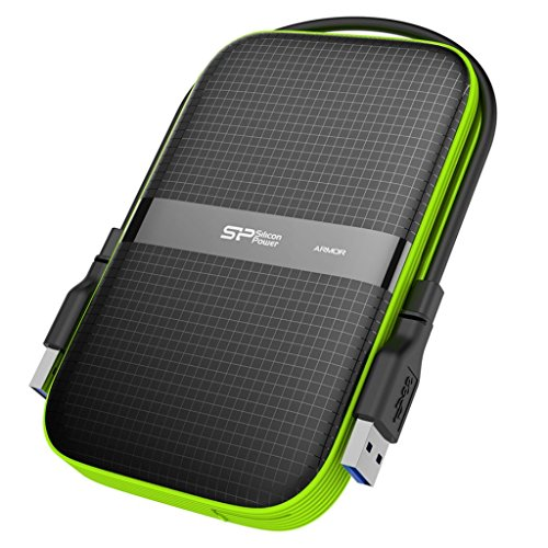 Silicon Power 4TB Rugged Portable External Hard Drive Armor A60, Shockproof USB 3.1 Gen 1 for PC, Mac, Xbox and PS4, Black