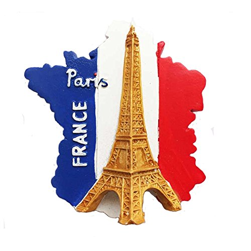 Kühlschrankmagnet mit Eiffelturm-Motiv, Reiseaufkleber, Souvenir, Frankreich-Flagge, Kühlschrankmagnet, Heim- & Küchendekoration