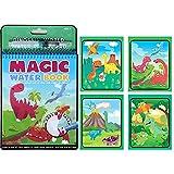 Magic Water Drawing Book Colores Magicos con Agua con Magic Pen Tablero de Pintura niños pequeños Regalo Juguete (dinosaurio)