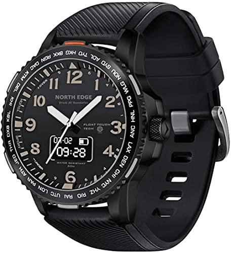 Reloj deportivo impermeable de doble pantalla táctil Bluetooth Smart Watch ritmo cardíaco calorías podómetro cronómetro Fitness Tracker