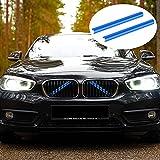 Merisny Embellecedor de Rejilla de 7 Colores Compatible para BMW F20 F21 F22 F23 F30 F31 F32 F33 F34 F36 F44 F45 F46 G11 G12 G30 G31 G32 G38 GT 3GT 218i 220i 228i 320i 328i 330i 335i 420i 428i 435i