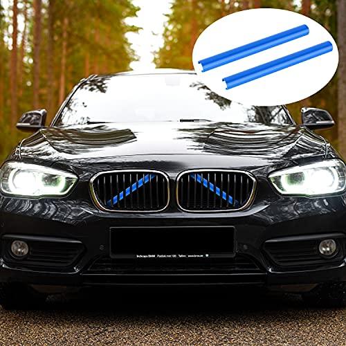 Merisny Frontgrilleinsatz Zierleisten für BMW Zubehör, 7 Farbe M Sportstil Grillstreifen Passend Kompatibel für BMW F20 F21 F22 F23 F30 F31 F32 F33 F34 F36 F44 F45 F46 G11 G12 G30 G31 G32 G38 GT