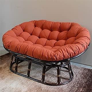 International Caravan Bali Papasan Twill Cushion Loveseat-Tangerine Dream - Tangerine Dream